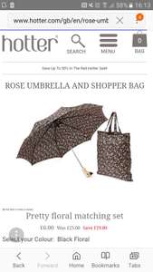 Hotter umbrella and shopper bag £6
