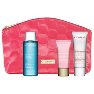 Clarins beauty essential kit for £20 @ John Lewis (£2 C&C)