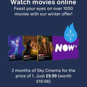Two months Now TV Cinema Pass for £4.49