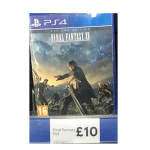 Final Fantasy XV (day one edition) £10.00 / Farcry Primal £10 / Resident Evil 7 £15 @ Tesco instore