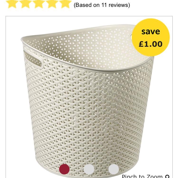 Curver 30L laundry basket - £4 @ wilko