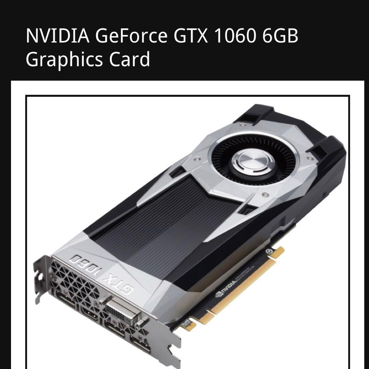 Nvidia GTX1060 6gb - £227.95 @ Fierce PC