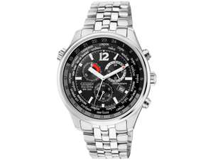 Citizen AT0361-57E World Time Eco-Drive Chronograph Bracelet Watch, £112.50 with code from HSamuel