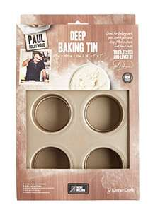 "Paul Hollywood by KitchenCraft 6-Hole Non-Stick Deep Pie / Tart Baking Tin with Loose Bases, 27 x 18.5 cm (10.5"" x 7"") £4.99 @ Amazon Prime Exclusive (also available at John Lewis for £4.99)"