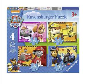 Ravensburger Paw Patrol 4 in a Box Jigsaw Puzzles - £2.40 (Add on item) @ Amazon