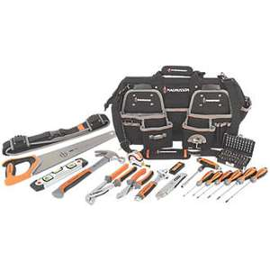 Magnusson Fully Comprehensive Tool Set 66 Pieces - Good quality tool set half price and bag - £34.99 @ Screwfix