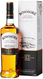 Bowmore 12 year old Islay single malt whisky 70cl £25 - Amazon