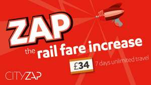 Free CityZap bus trip between Leeds and Manchester or vice versa with a valid rail ticket