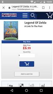 Zelda a link to the past graphic novel - £8.99 Delivered @ Forbidden Planet