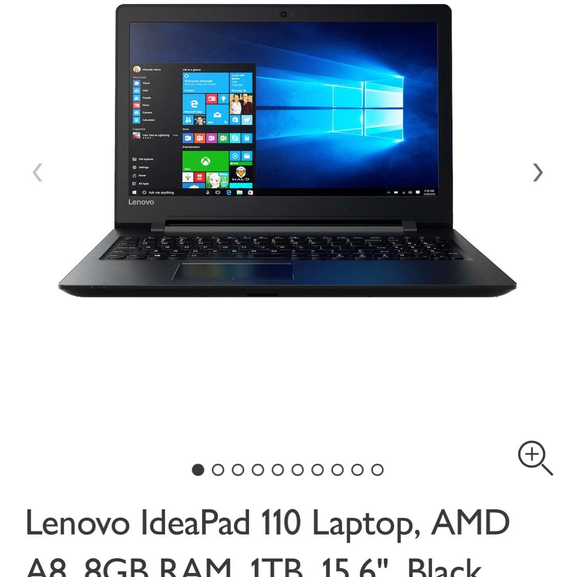 Lenovo IdeaPad 110 Laptop £274.99 John Lewis 8gb Ram 1TB HDD - £274.99 @ John Lewis
