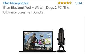 Blue Yeti Microphone Blackout Edition with Watchdogs 2 PC at Amazon for £79.99