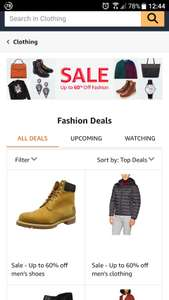 Amazon - Upto 60% off fashion (shoes etc)