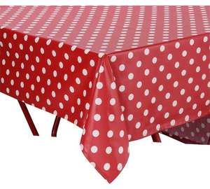 HOME PVC Red Polka Dot Table Cloth (was £14.99) Now £4.49 at Argos