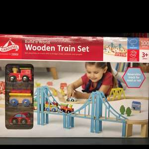 Carousel 100 piece wooden train set - £13 instore @ Tesco