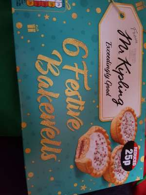 6 festive bakewells in poundland only 12p