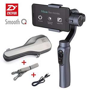 Zhiyun Smooth-Q 3-Axis Handheld Gimbal Stabilizer for Smartphone Wireless Control (Black and Grey) (Grey) £93.10 Sold by Zhi_Elephant and Fulfilled by Amazon - Lightning deal