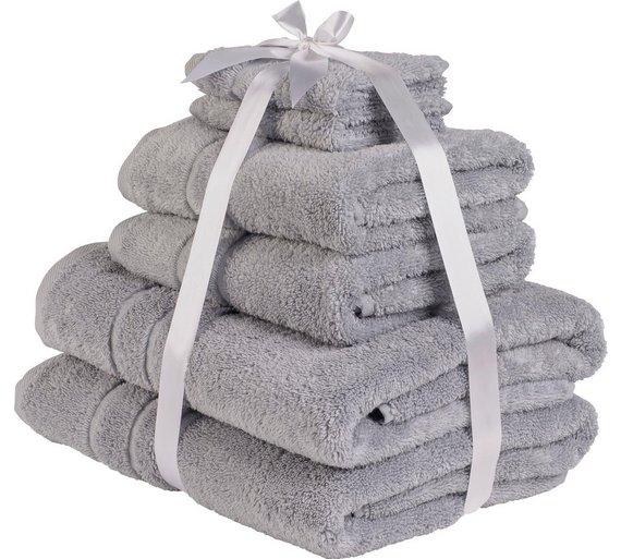 Throw in the towel: HOME Zero Twist 6 Piece Towel Bale - Dove Grey - £11.49 @ Argos