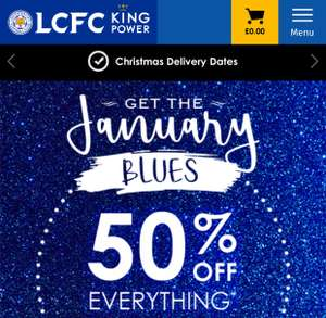 50% off Everything @ LCFC (Leicester City Football Club)