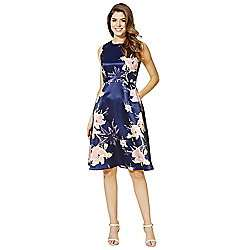 AX Paris Floral Satin Fit and Flare Dress save 50% now £24, @ Tesco, free c&c next day*