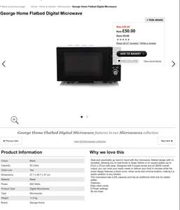 Flatbed digital microwave £50 @ George back in stock