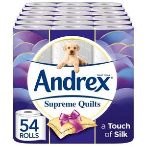 Andrex Supreme Quilt Toilet Rolls 54 £16.55 (You need to buy an additional 5 items) with S&S @ Amazon
