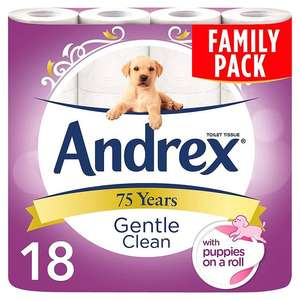 Andrex puppies on a roll 18 Pack for £6.50 @ Tesco, cheaper than Amazon!