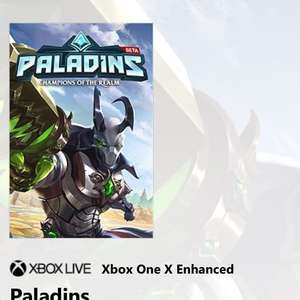 Paladins Xbox X enhanced - Free on Microsoft store