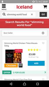 2 X slimming world meals @ Iceland for £5
