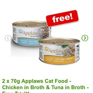 Free 2 x 70g Applaws cat food in Zooplus