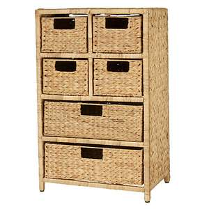 JOHN LEWIS - Water Hyacinth Storage Unit, 6 Drawer (NOW: £40!)