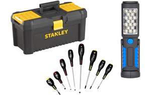 Stanley Toolbox Bundle with Halfords Advanced 8pc Screwdriver Set and LED Inspection Lamp - £15