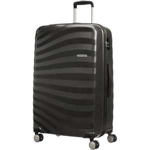 American Tourister Oceanfront 4 Wheel Black Large Hard Shell Suitcase £42.50 @ Tesco Direct