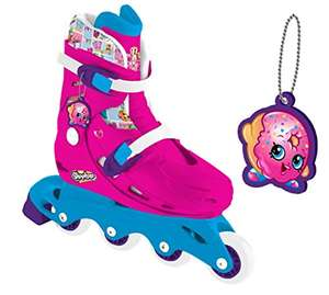 Shopkins In Line Skates with Keychain (Adjustable  Size) now £8.40 Prime / £12.39 Non Prime @ Amazon (also Shopkins Inline Scooter with Basket and 6 Collectables £9 Prime / £12.99 Non Prime)