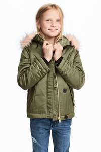 Girls Padded Parka (ages 9yrs to 14+) was £34.99 now £13.99 Del w/code @ H&M (poss 10-15% Extra Off if H&M Club Member