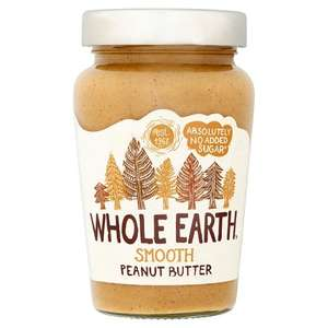 Whole Earth Original Peanut Butter Smooth 340 g (Pack of 6) £5.20 (Add-on Item) @ Amazon