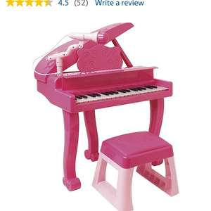 Carousel Pink Let's Play Pink Grand Piano - £15 @ Tesco Direct