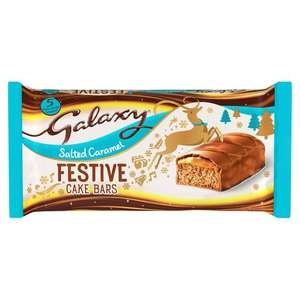 Galaxy festive cake bar pack of 5 down to 25p from £1 at Asda