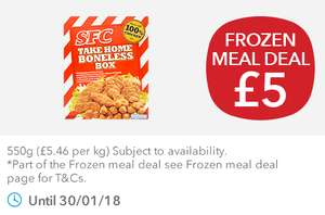 New £5 Co-op Frozen Meal Deal inc SFC Boneless Box, Fries, Onion Rings, Mini Corn Cobs & Cadburys Dairy Milk Mini Cones
