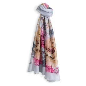 Pretty grey floral scarf free with any order, or £5 delivered w/code @ Hotter Shoes
