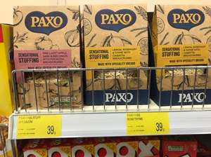 Paxo 110g Stuffing either Pink Lady or Lemon just 39p per box at B&M Stores - fuller details in description