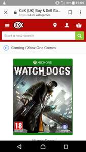 Watchdogs xbox one £4 @ cex ( instore)