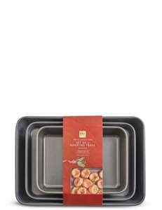 Set of 3 carbon steel roasting trays. Reduced from £25 to £9 @ M&S