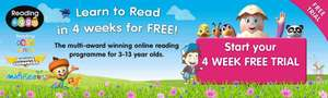 4 Week FREE Trial for Reading - Perfect for Ages 2 - 13 at Littlebird