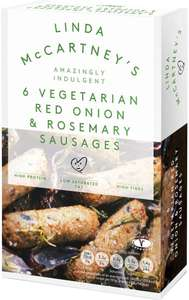 Linda McCartney Red Onion & Rosemary Vegetarian Sausages (6 per pack - 300g) ONLY £1.00 @ Morrisons