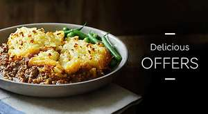 Meal for 2 at M&S £6.00  Main, side and dessert