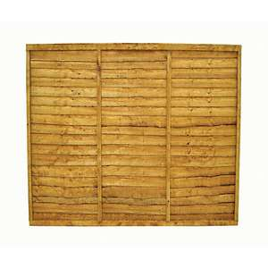 Overlap Fence Panel - 6 x 6ft - £19.90 / 6ft x 5ft - £19.00 + 10 year anti-rot guarantee @ Wickes Online & instore