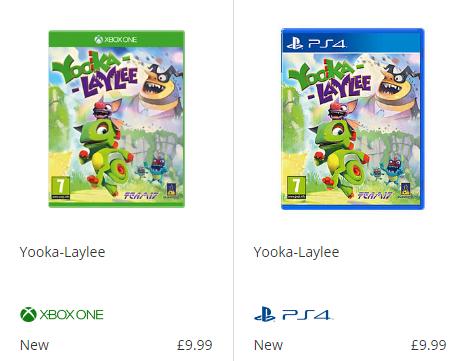 Yooka-Laylee Ps4/Xb1 New £9.99 @ Game