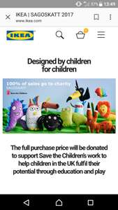 Support save the children @ ikea - £4 soft toy (full proceeds to charity)