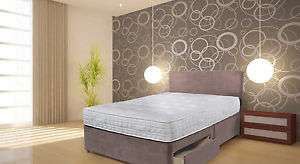 Suede divan bed set + Double memory mattress  + Headboard  £139.99 delivered @ eBay / bed-world (Other sizes also)