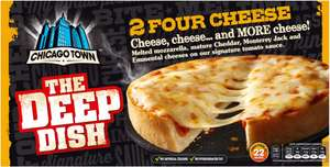 Chicago Town Deep Dish Four Cheese Pizza / Ham & Pineapple Pizzas / Pepperoni Pizza / Chicken Club Deep Dish Pizzas / Mega Meaty Deep Dish Pizzas / Ham & Pineapple /  Limited Edition 2 American BBQ / (2 per pack - 310g) ONLY £1.00 @ Asda